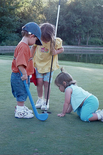 Golfing with the Kids. Photo by Dereck Bradley.