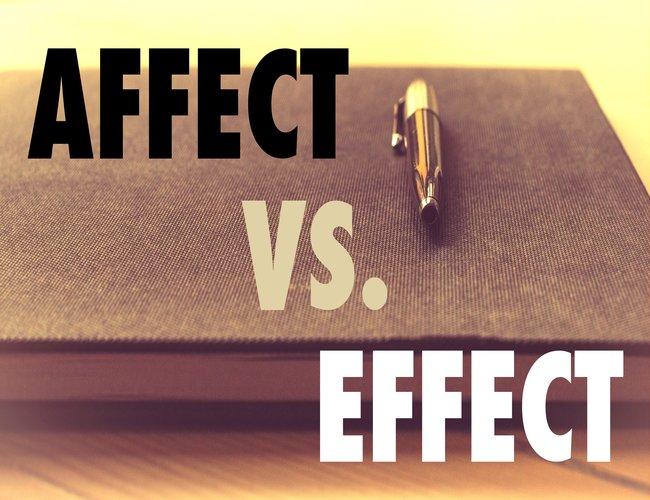 Grammar Quandary: Affect Versus Effect