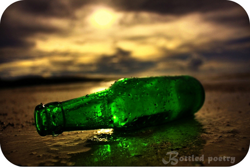 Green Bottle Motif