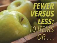 Fewer vs Less