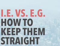I.E. vs. E.G
