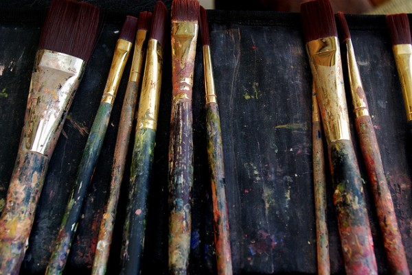 paintbrushes, writing, art
