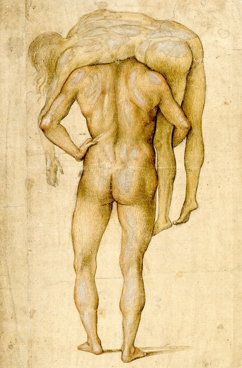 Luca Signorelli: Man Carrying Corpse on His Shoulders, circa 1500