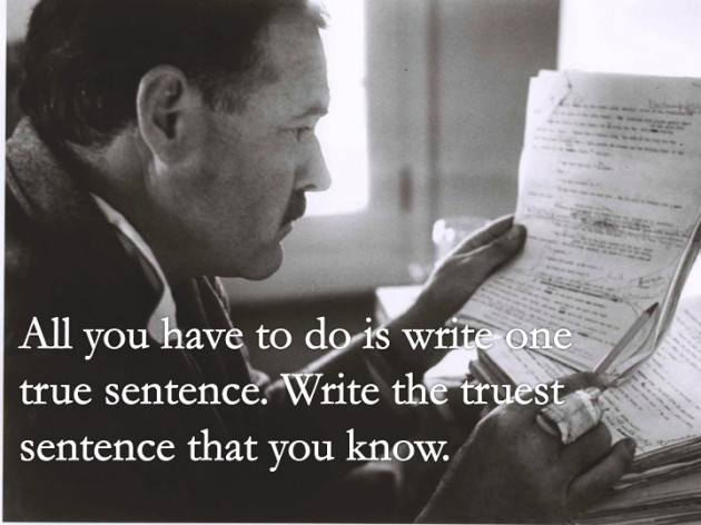 How to write like hemingway