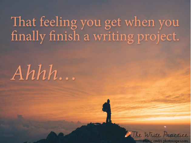 Finish writing project