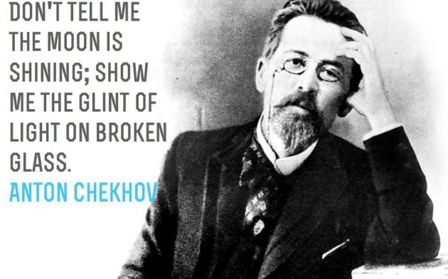 show don't tell chekhov quote