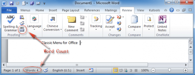Count Words Microsoft Word