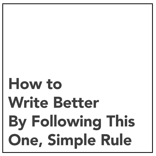 How do you write better?