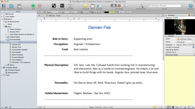 how to create a checklist in scrivener