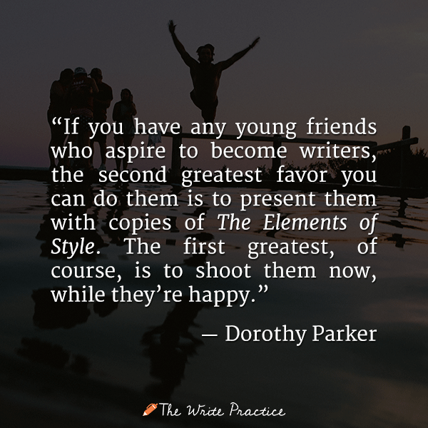 dorothy parker quote become a writer