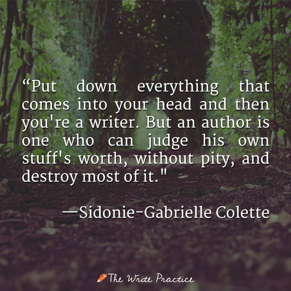 colette quote become a writer