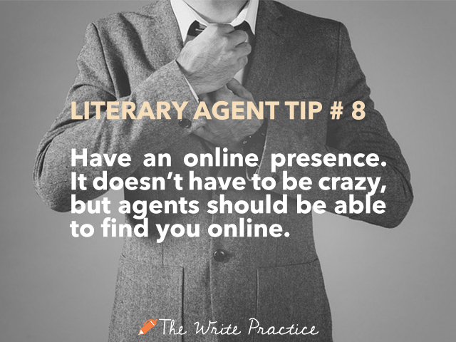 literary agent tips online presence