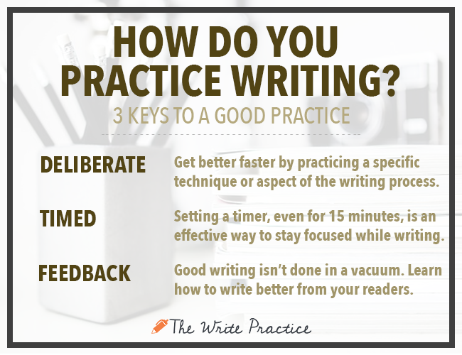 How to practice writing