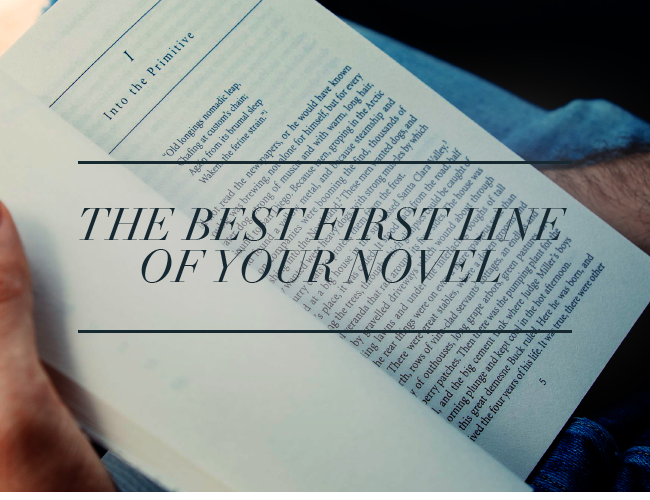The Best First Line of Your Novel