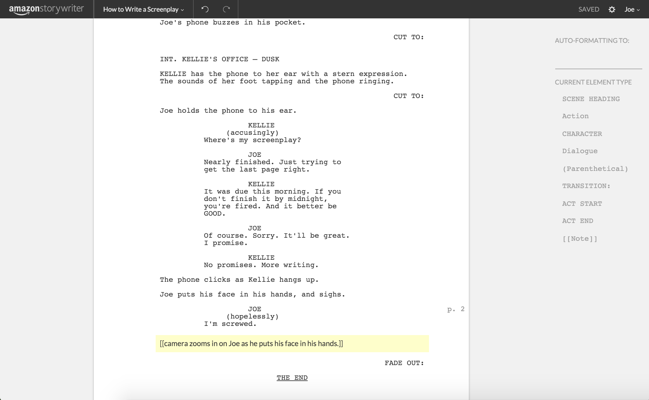 How To Write A Screenplay Using Amazon Storywriter - The Write ...
