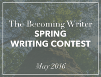 Becoming Writer Spring Writing Contest