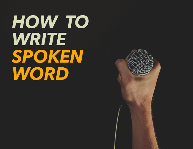 How to write spoken word