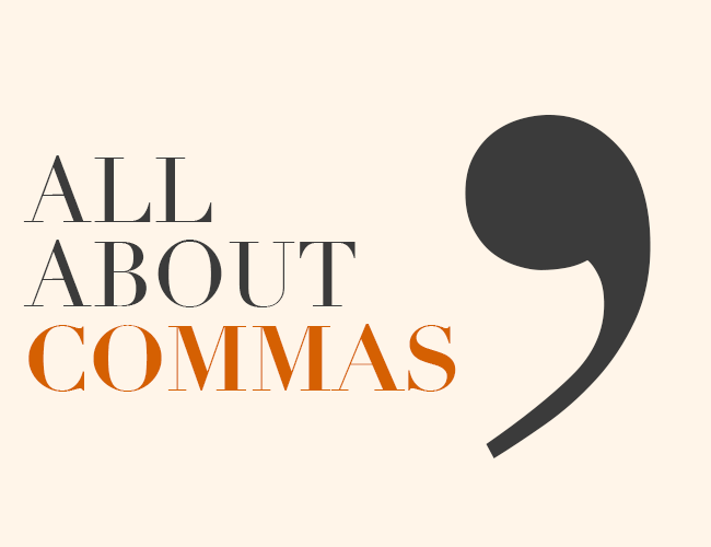 all about commas