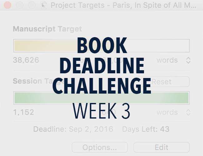 Book Deadline Challenge: Week 3 Update
