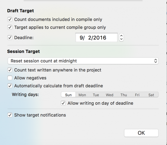 Word Count Targets