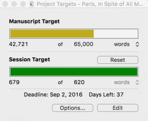 Scrivener Deadline Week 3