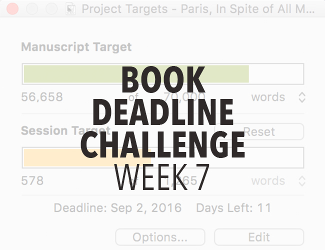 Book Deadline Challenge Update- Week 7