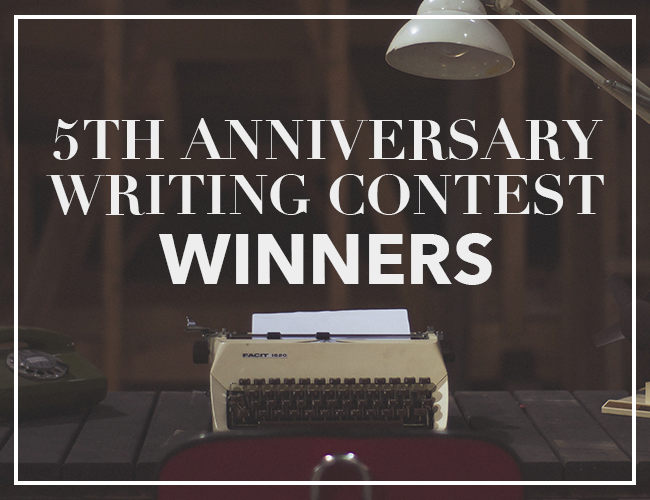 5th Anniversary Writing Contest Winners