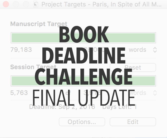 Book Deadline Challenge: Final Update