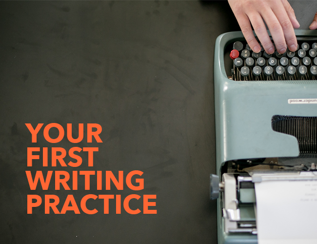 Your First Writing Practice
