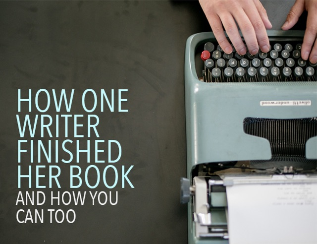 How One Writer Finished Her Book