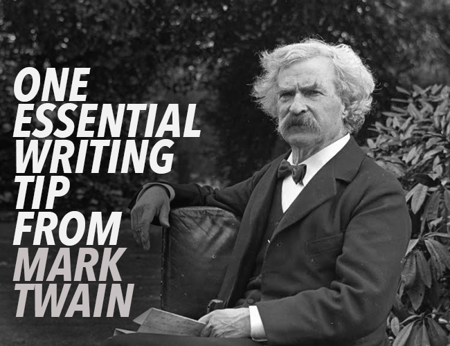 mark twain essay on writing