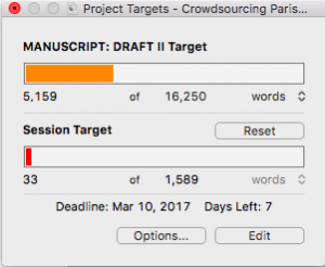 Scrivener: Project targets