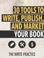 30 Tools to Write, Publish, and Market Your Book