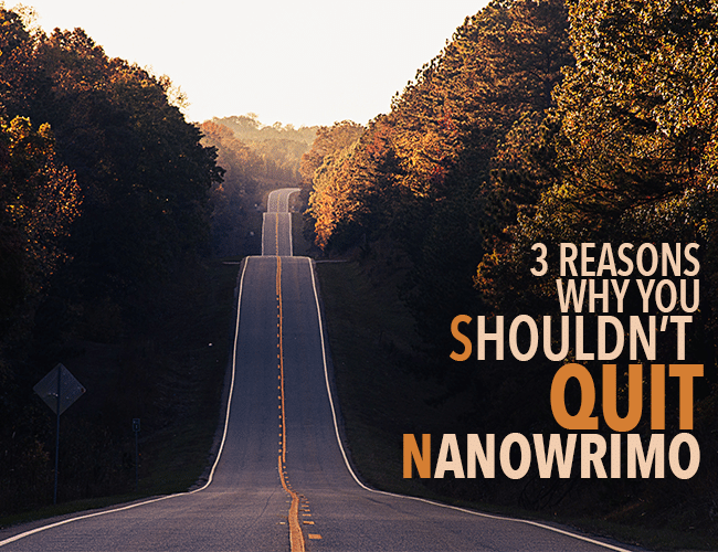3 Reasons Why You Shouldn't Quit NaNoWriMo