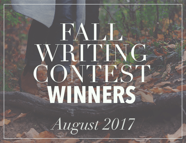 The Winners of the Fall Writing Contest