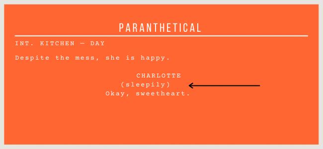 parenthetical