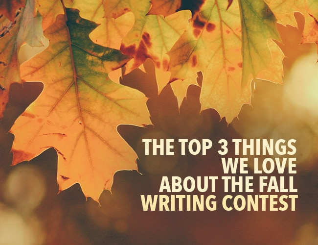 The Top 3 Things We Love About the Fall Writing Contest