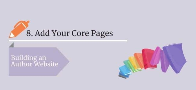 Add Your Core Pages
